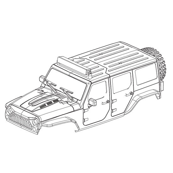 X1 Body Shell Set w/F & R grille w/o lamps