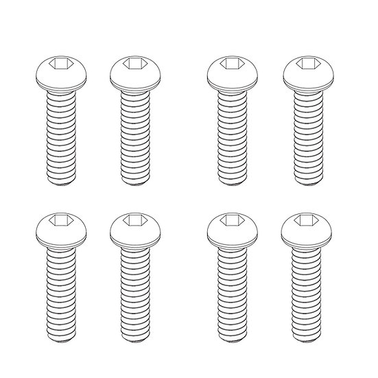 Button Head Hex Screws 2x10mm (8)