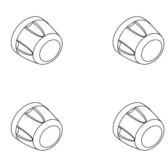 Dustproof Wheel nut Cap, silver(4)