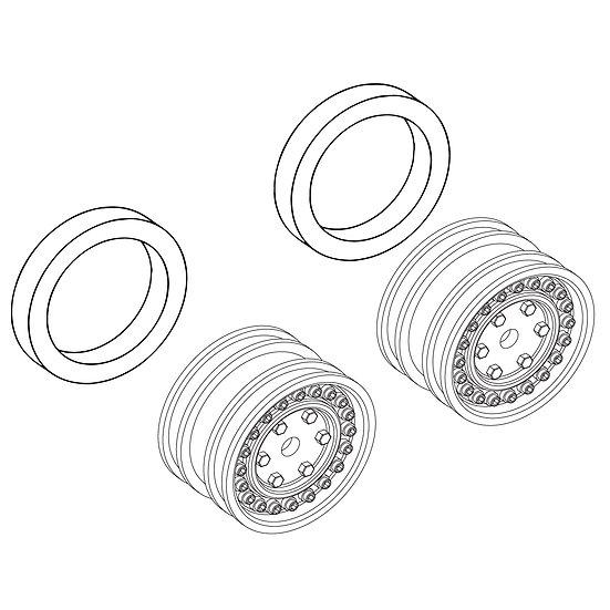 Wheels with Hub Counterweight Blocks (pr.)
