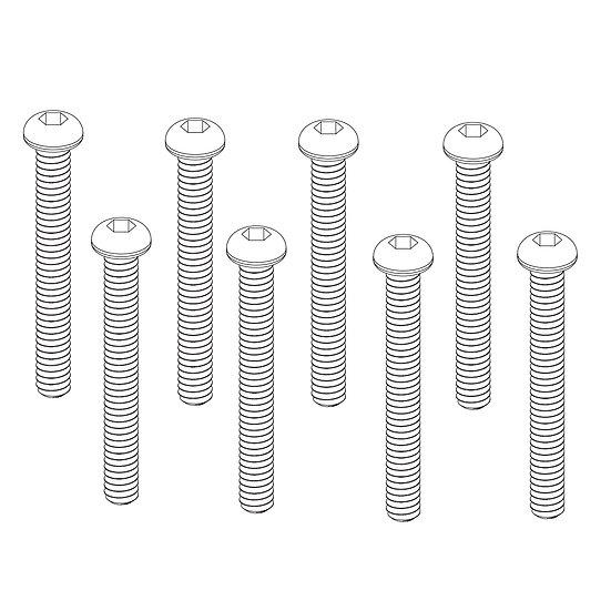 Button Head Hex Screws 2x18mm(8)
