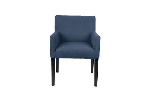 Dining Chair Velour petroleums blå