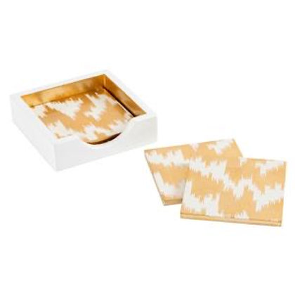Lacquer Coasters - Gold