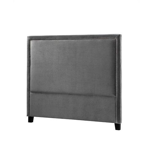 Headbord Velour mørk grå