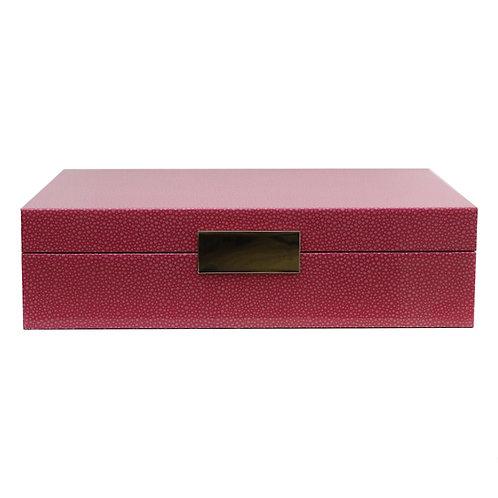 Lakkboks Pink Shagreen