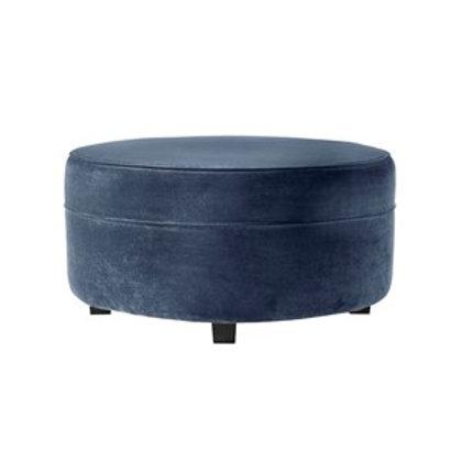 MALIBU Ottoman Petroleums blå velour