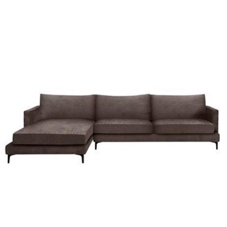 Sofa MONTANA Corner - Velour muldvarp