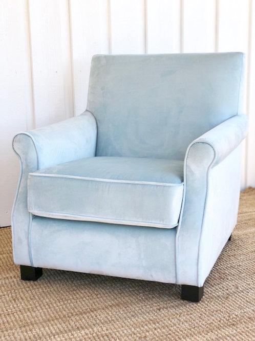 Lounge Chair Velour aqua