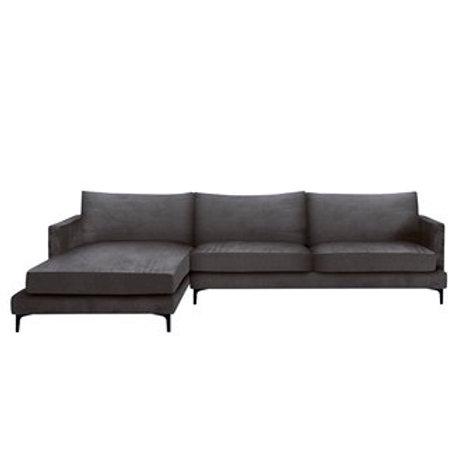 Sofa MONTANA Corner - Velour Grå