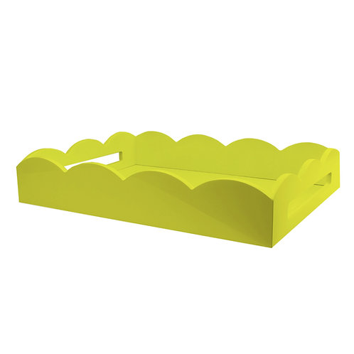 Lakkbrett Scallop - Yellow