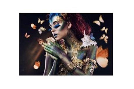 Glass Bilde Butterfly Lady