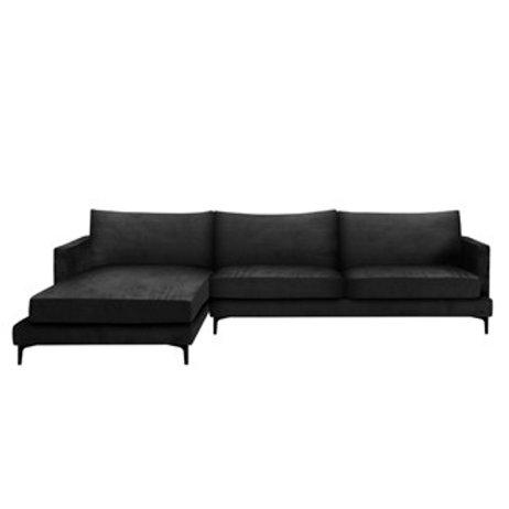 Sofa MONTANA Corner - Velour Black