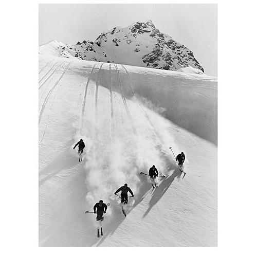Glass Bilde Downhill skiing