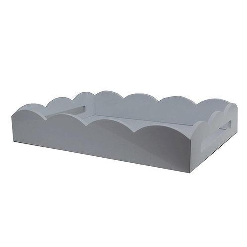 Lakkbrett Scallop - Grey