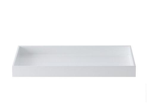 Lakk brett 19x38 hvitt