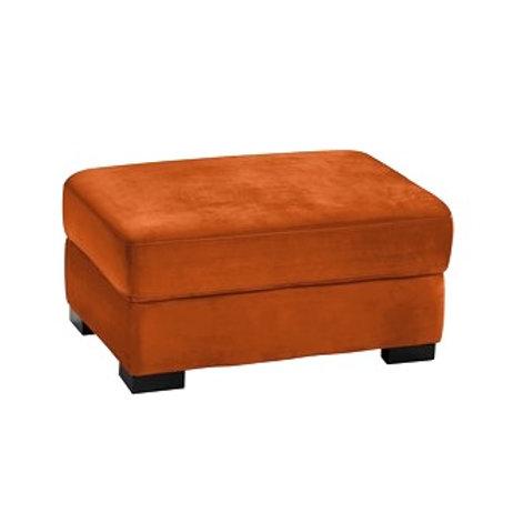 Puff AUSTIN velour Orange
