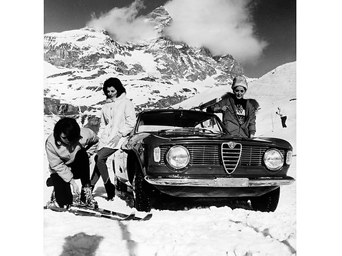 Glass bilde ALFA ROMEO WINTER GIRLS 120 X 120