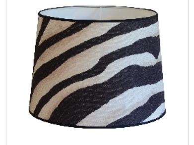 Lampe skjerm Zebra Black  30cm