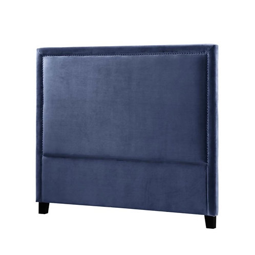 Headboard Velour 180 petroleums blå