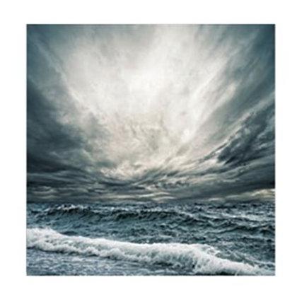 Glass bilde OCEAN & HEAVEN   120 X 120