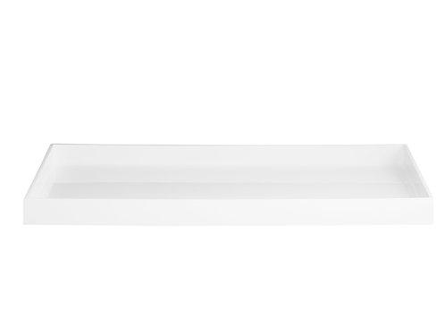 Lakk brett 60 x 40 cm hvitt