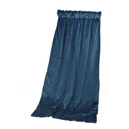 Gardin Velour med for - Petroleums blå
