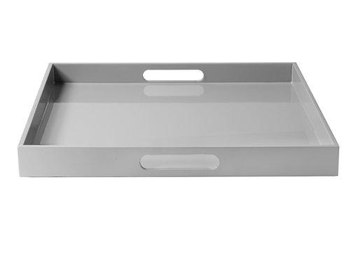 Lakk brett 40x40 grå
