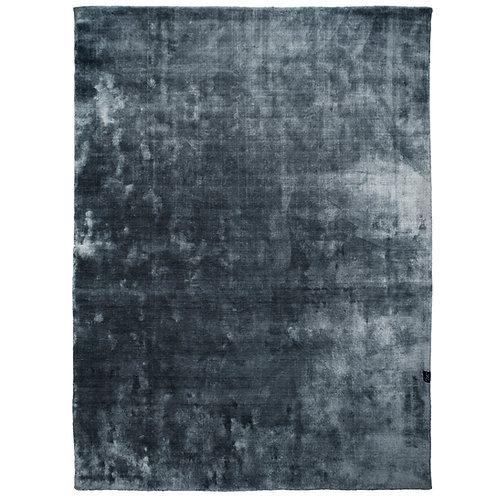 Teppe velvet grå/blå