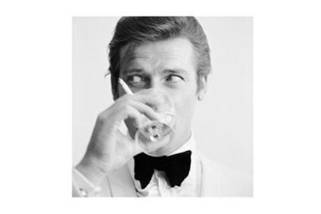 Glass Bilde Roger Moore 120x120