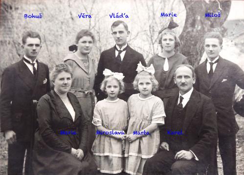 Pradědeček Senátor Karel Sáblík s rodinou, dědeček Vladimír