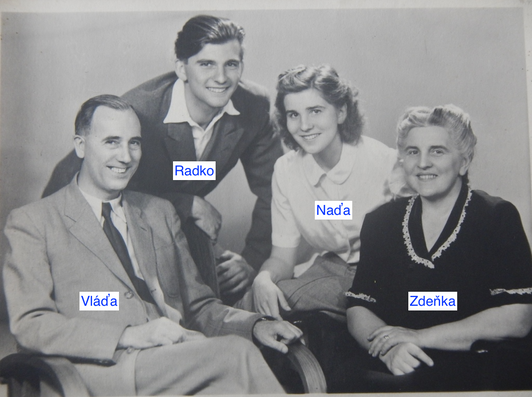 Dědeček s rodinou, otec Radko