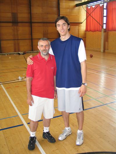 Foto s Jiřím Welschem na Welsch campu, tam v roli trenéra