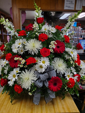 Alabama Theme Floral Funeral Basket