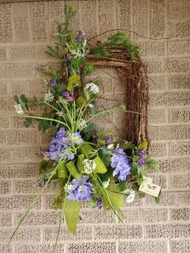 Spring Has Sprung Silk Grapevine Wreath