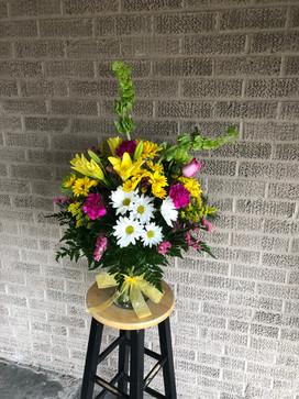 Baby Girl Fresh Floral Arrangement