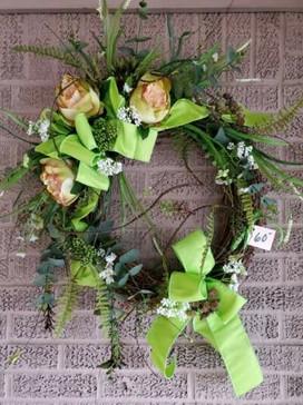 Fresh Greens Spring Silk Wreath