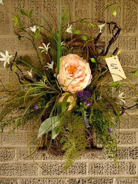 Bountiful Peach Silk Wreath