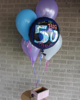 50th Birthday Balloon Bouquet