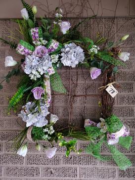 Lavendar Silk Grapevine Wreath
