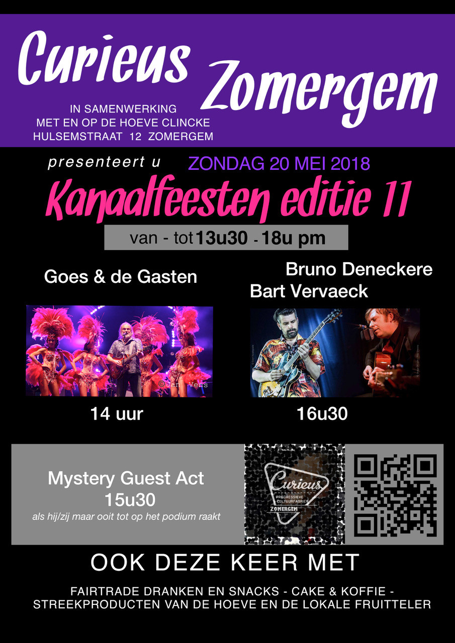 Affiche Kanaalfeesten editie 11 Curieus Zomergem