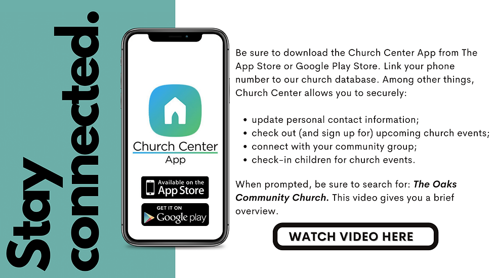 Be sure to download the Church Center Ap