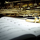 Saxophone on Music Sheet