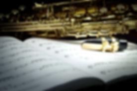 Saxophone on Music Sheet