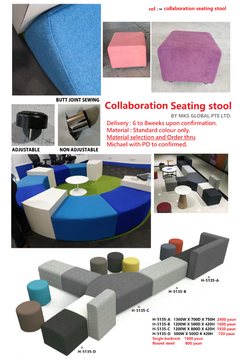 collaboration seating stool H 5135 catEL