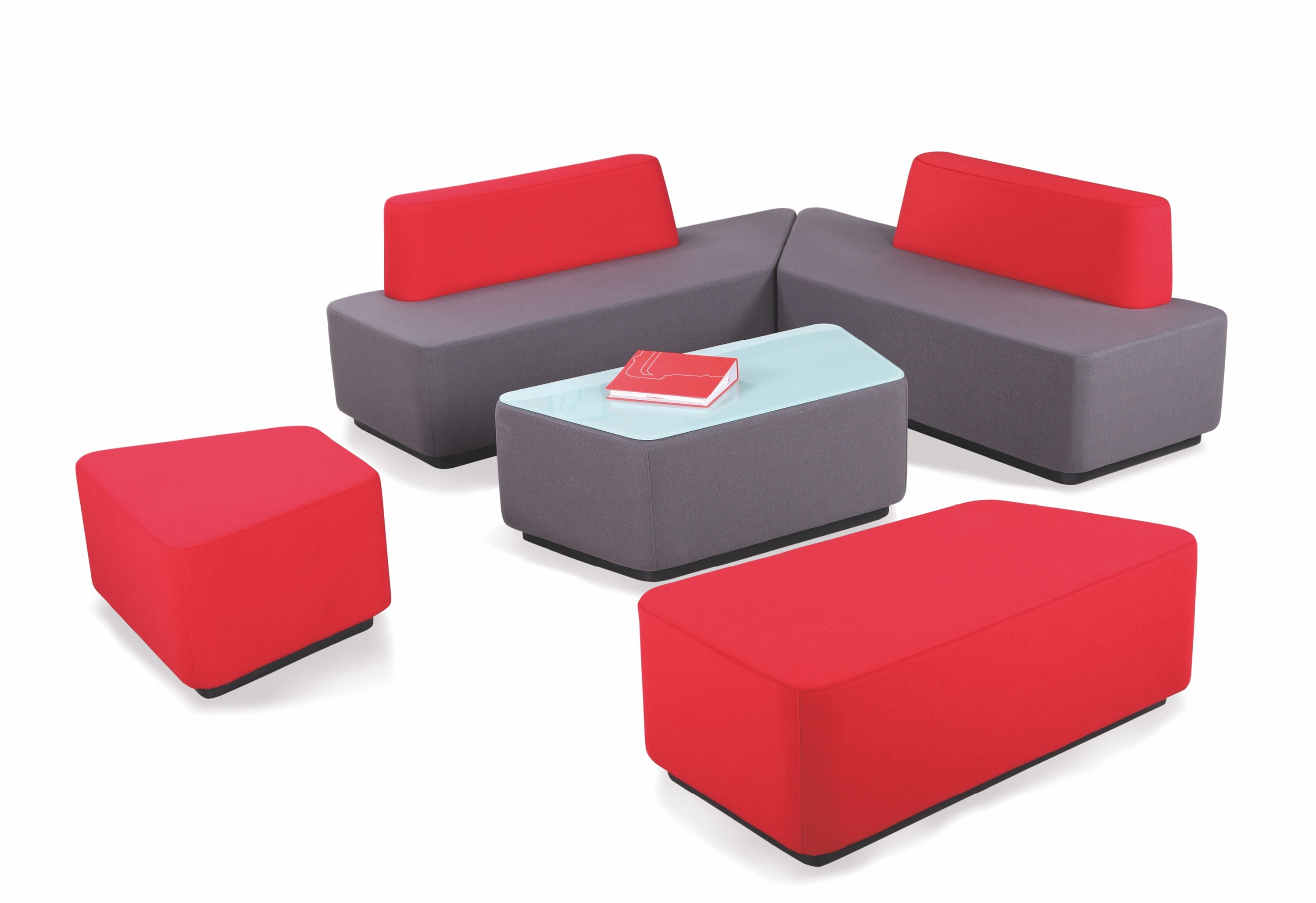 H 5160 modular round edge bench sofa (2)