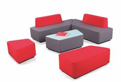 H 5160 modular round edge bench sofa (2)