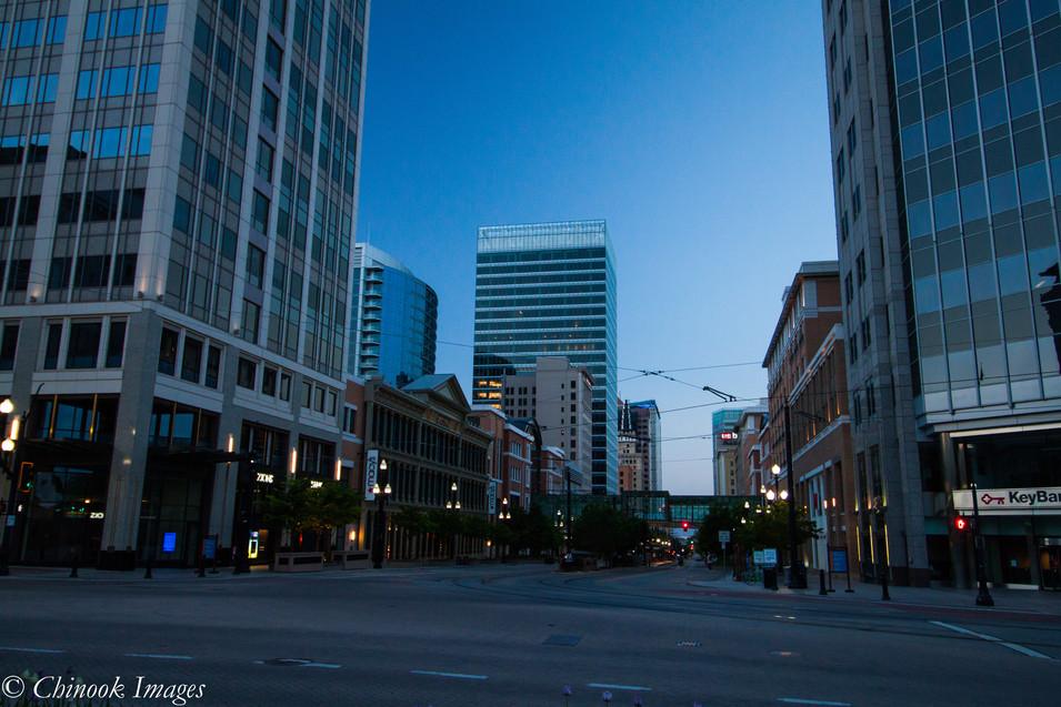 Salt Lake City Downtown at Dawn