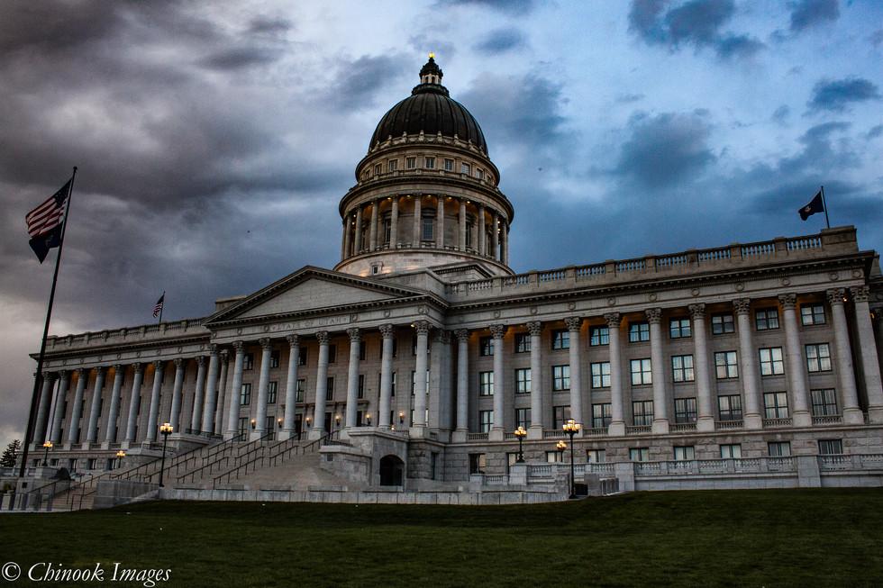 Utah Capitol Building at Dawn