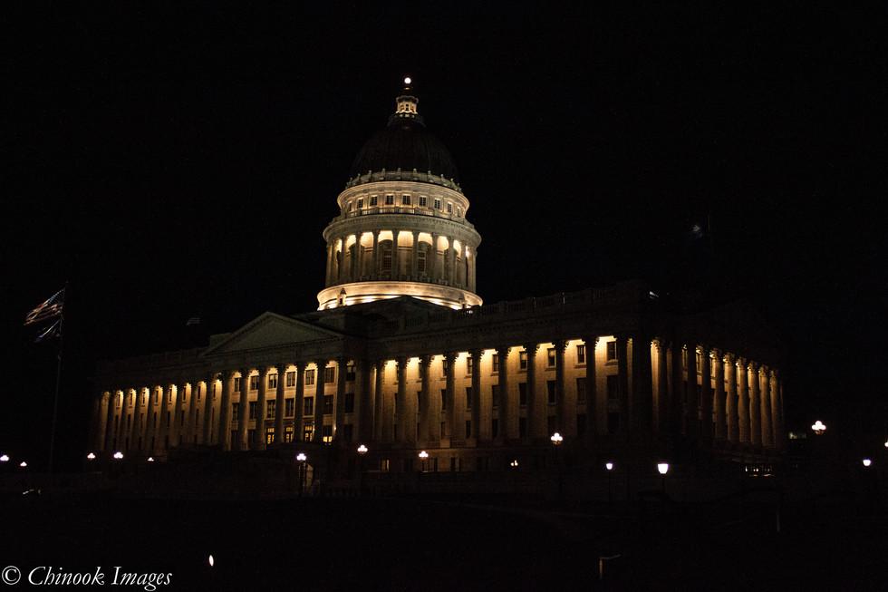Utah Capitol at Night
