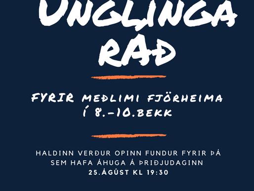 Vilt þú koma í unglingaráð?